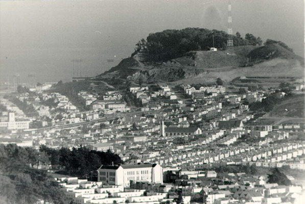 Aerial view of the Bay View district